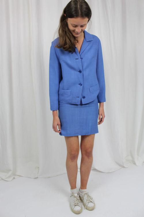 vintage kostüm blau
