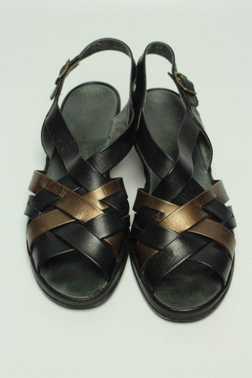vintage sandale schwarz