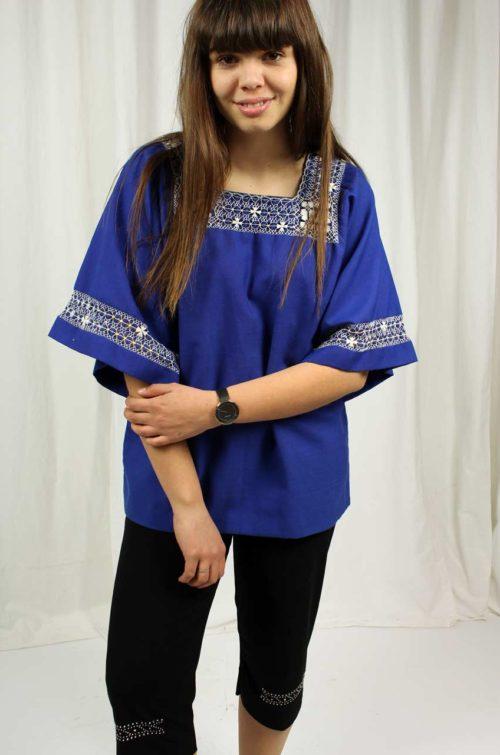 vintage tunika blau