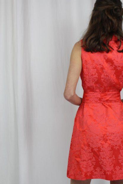 Minikleid rot ärmellos Second Hand