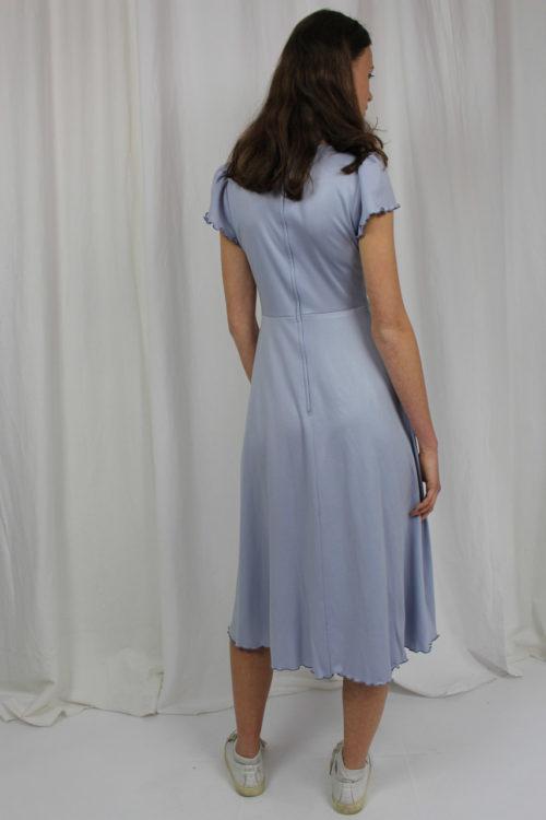 Sommerkleid hellblau kurze Ärmel