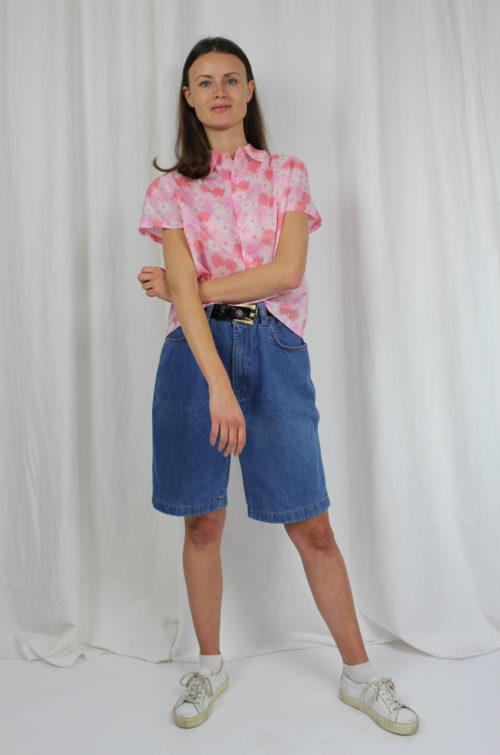 Vintage bluse rosa blumen