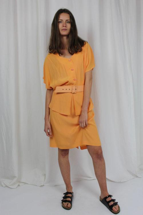 Vintage zweiteiler orange