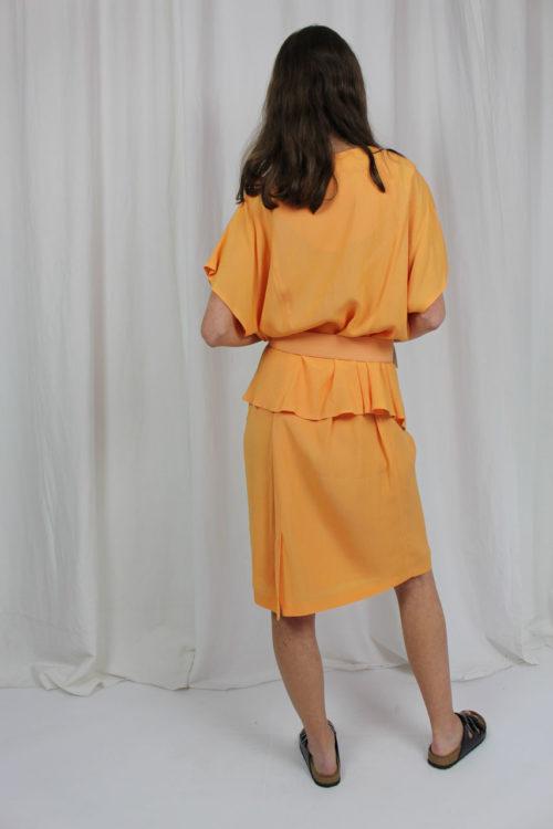 Zweiteiler orange mit Kurzarmbluse