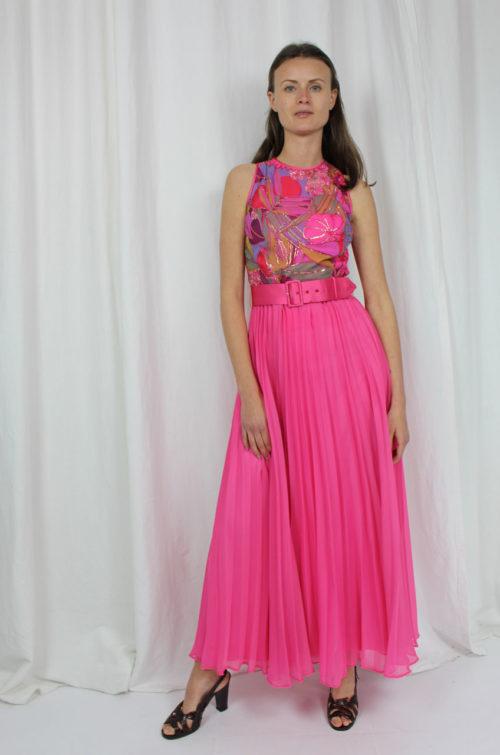 vintage abiball kleid pink