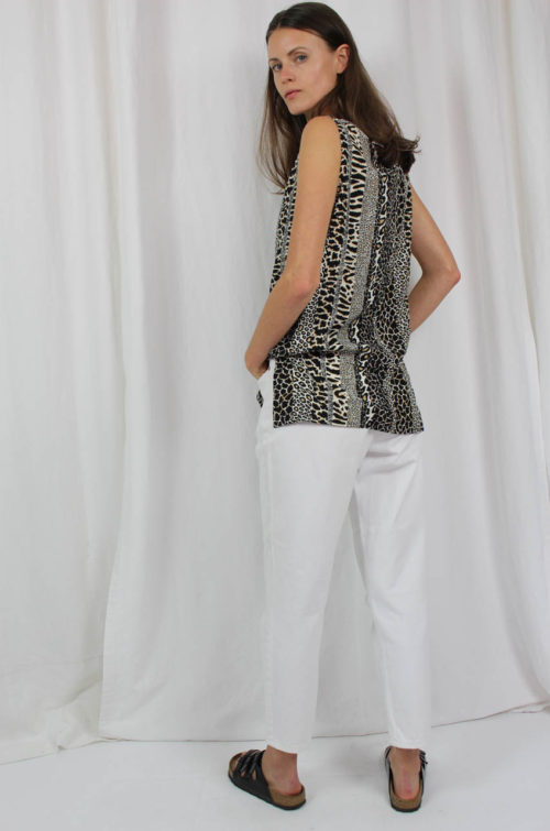 vintage animalprint top