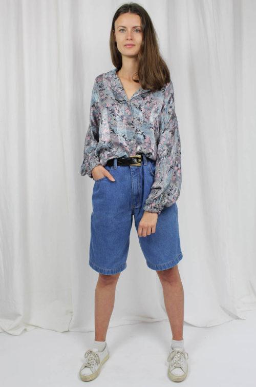 vintage blazer bluse geblühmt