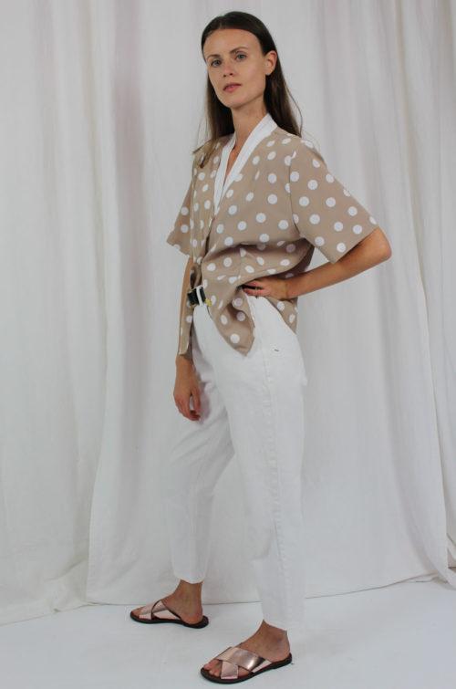 vintage bluse gepunktet