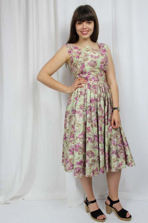 vintage buntes Kleid