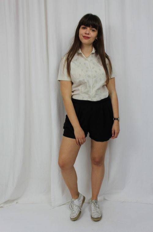 vintage cremefarbene Bluse