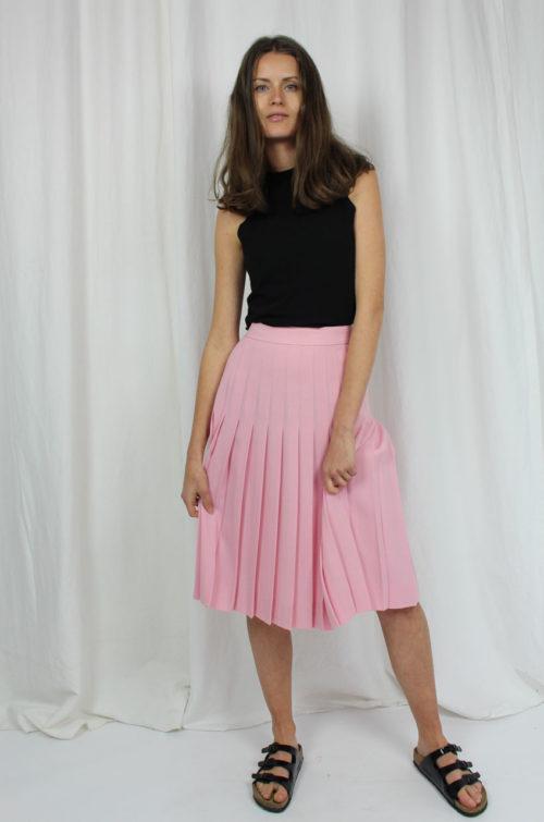 vintage faltenrock rosa