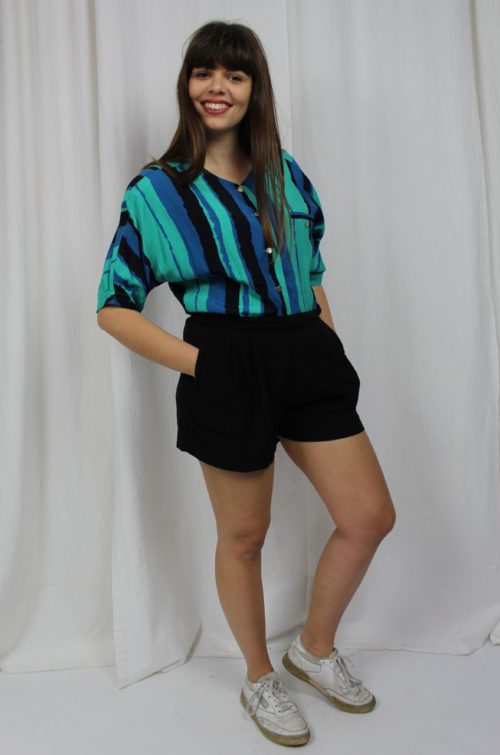 vintage gestreifte Bluse