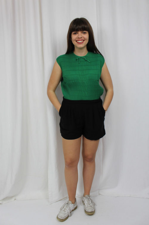 vintage grüne Bluse