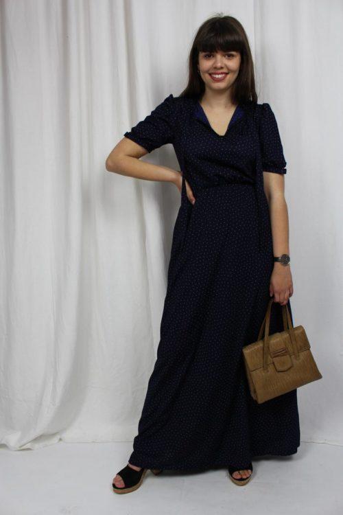 vintage langes Kleid