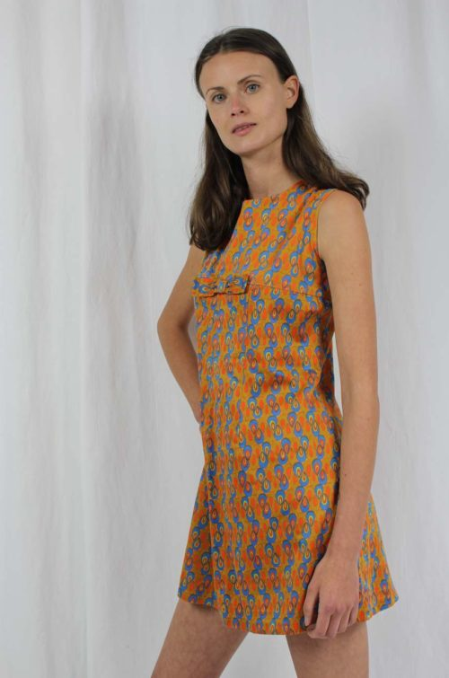 vintage minidress 70s