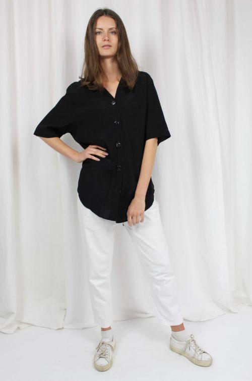 vintage shirt bluse schwarz