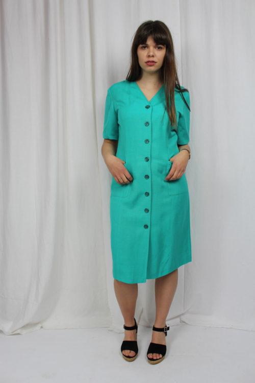 vintage türkises Kleid