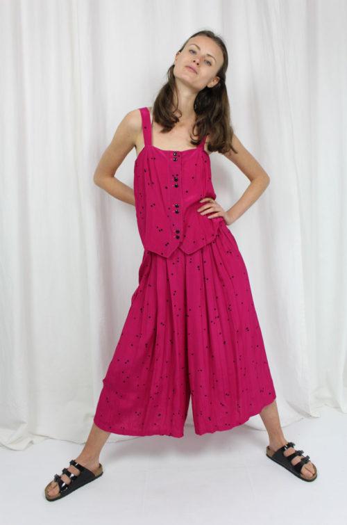 vintage zweiteiler pink