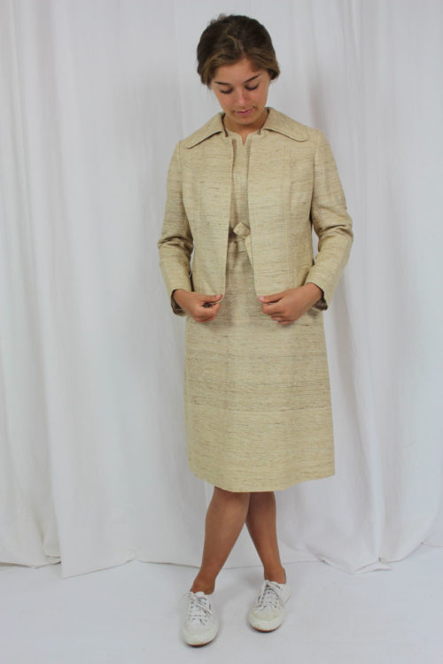 Kleid Jacke beige