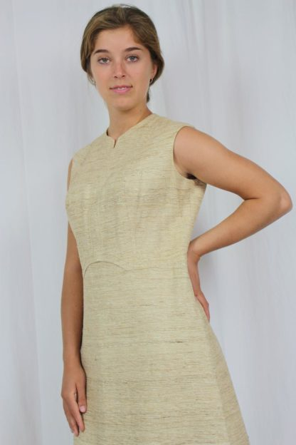 Kleid kurzarm beige
