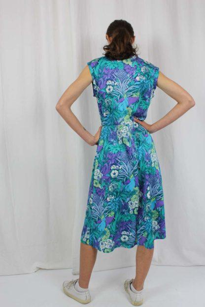 Kleid kurzarm blau Second Hand