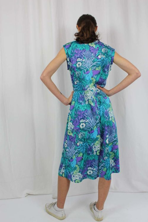 Kleid kurzarm blau Second Hand