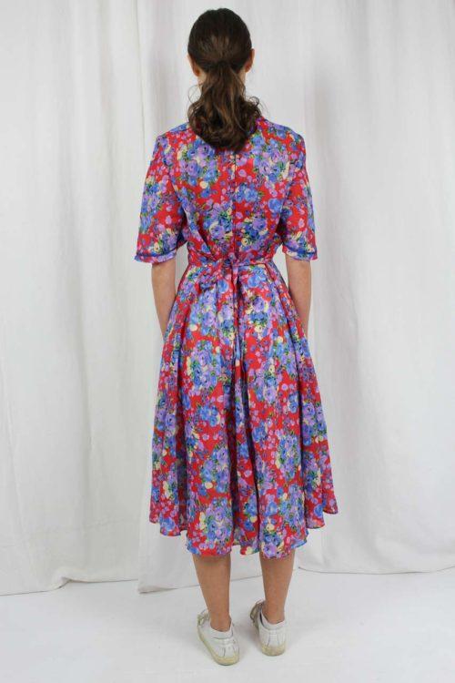 Kleid midi rot floral