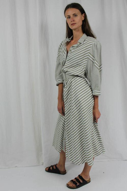 Sommerkleid grau weiß