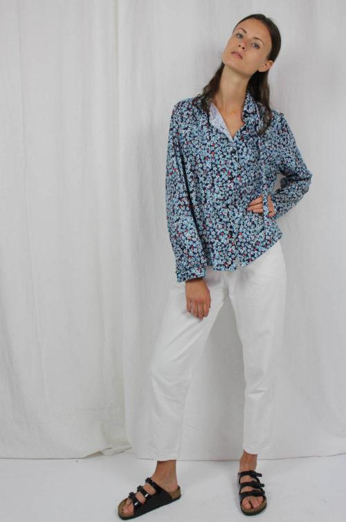 Vintage-Bluse Blümchen