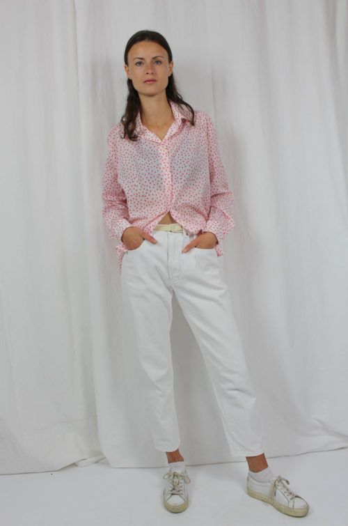 Vintage-Bluse Weiß