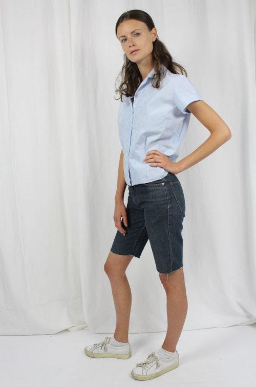 Vintage-Bluse blau