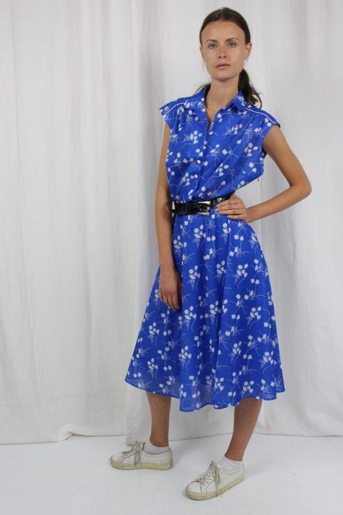 Vintage Kleid blau midi