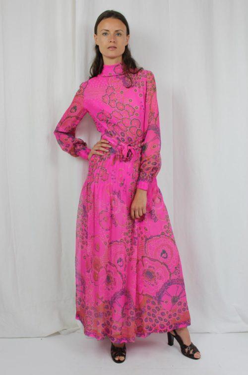 Vintage Maxikleid pink