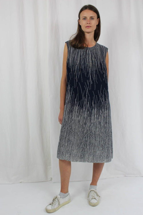 Zweiteiler blau Kleid ärmellos