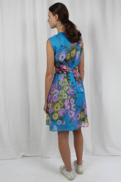 blau buntes Kleid Lürman Second Hand