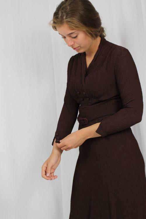 braunes Kleid Second Hand