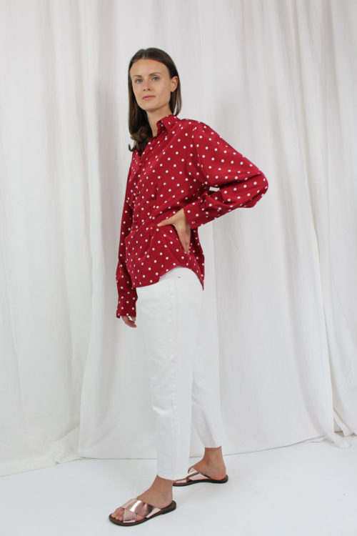 fairfashion blouse red white