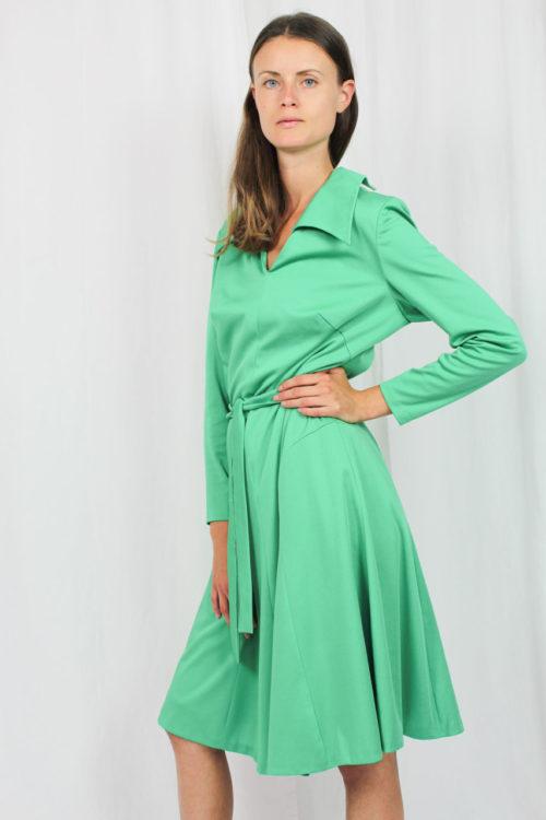 Kleid grün mit Gürtel