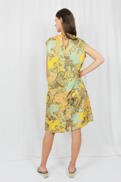 Kleid mit Muster gelb Online kaufen