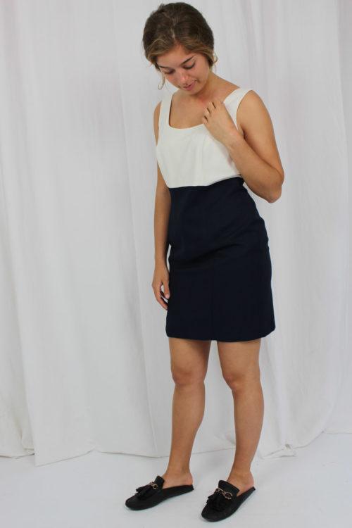 Minikleid blau weiß