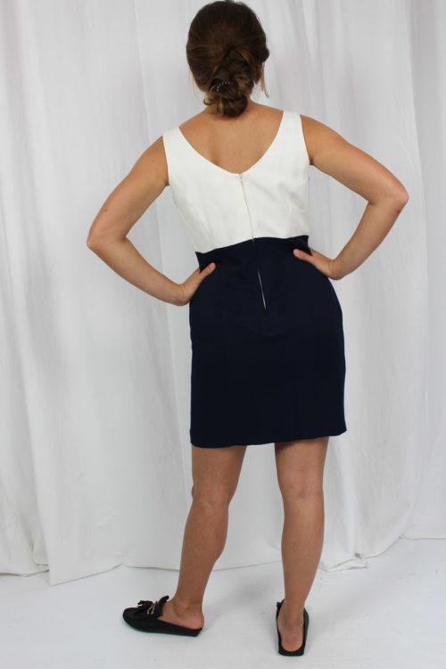 Trägerkleid blau weiß
