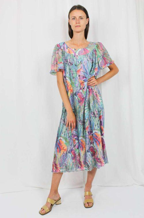Vintage Kleid Blumenmuster