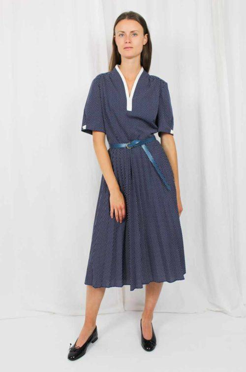 Vintage Kleid blau 70er Jahre