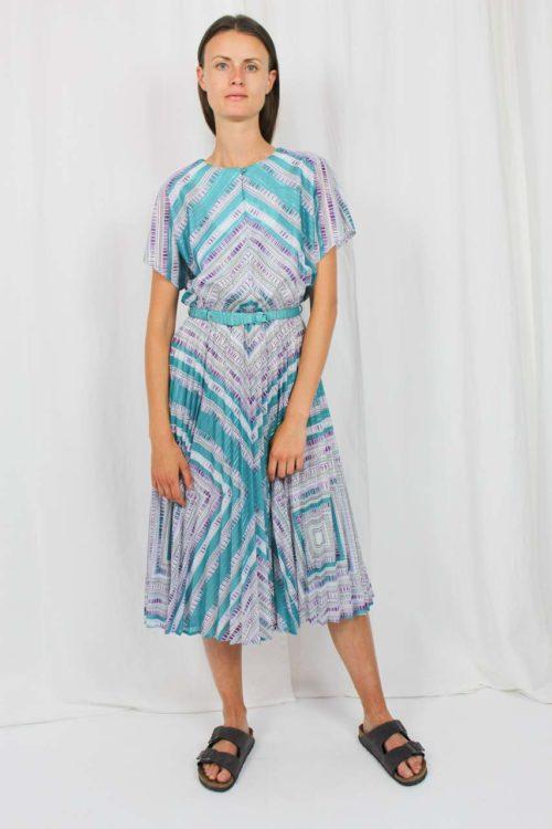 Vintage Kleid grün Markwald