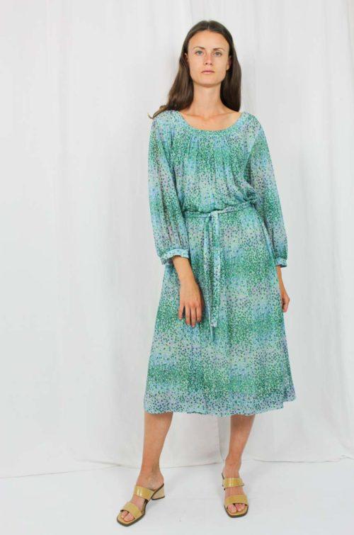 Vintage Kleid grün blau