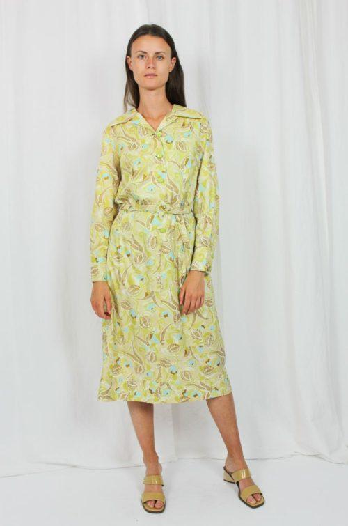 Vintage Kleid grün türkis