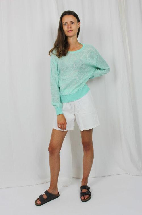 Vintage Pullover türkis