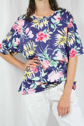 Oversize sommer Shirt Blumen