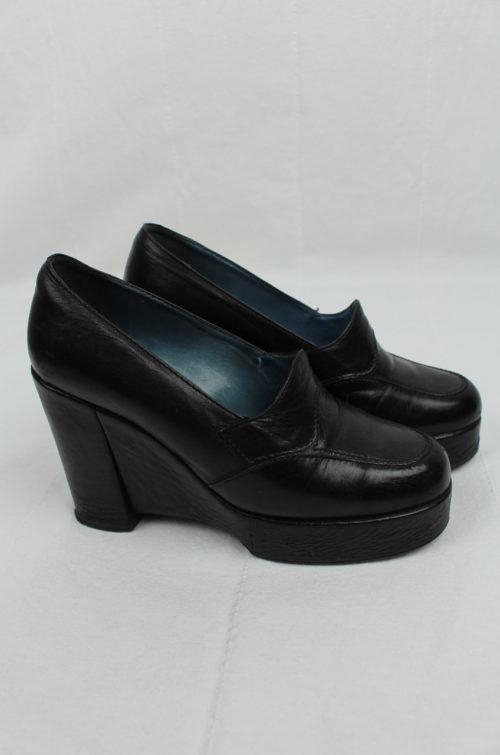 Schuhe schwarz halbhoch