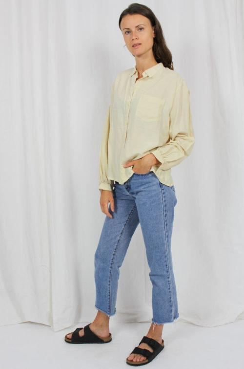 Vintage Bluse Langarm